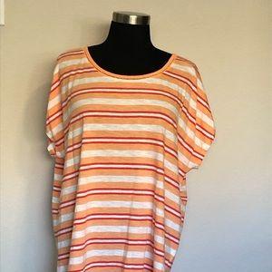 Lands' End Striped Cotton Shirt